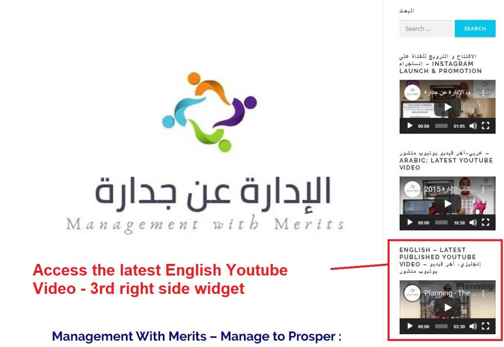 Accessing Latest English Video of Management with Merits Channel