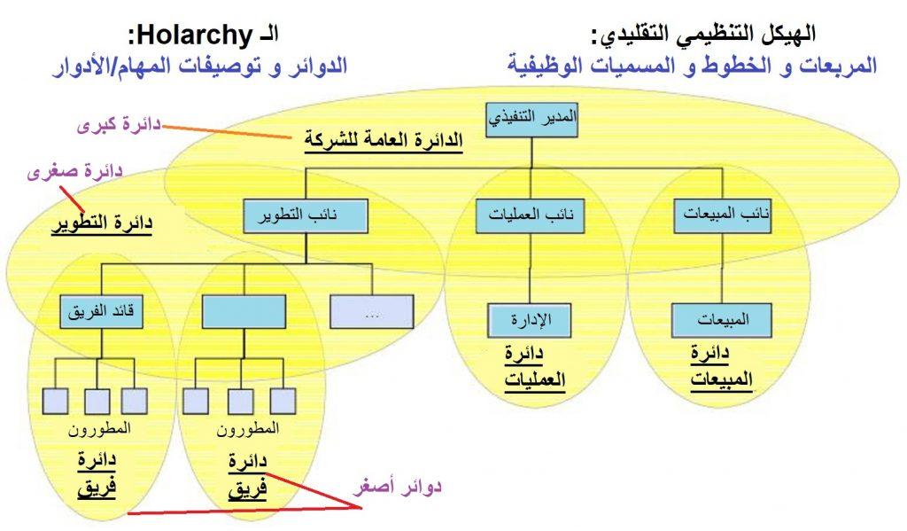 التنظيم - الوظيفة الإدارية الثانية : أسلوب الهولاكرسي، أحد أساليب التنظيم الذاتي - هيكل الهولاركي