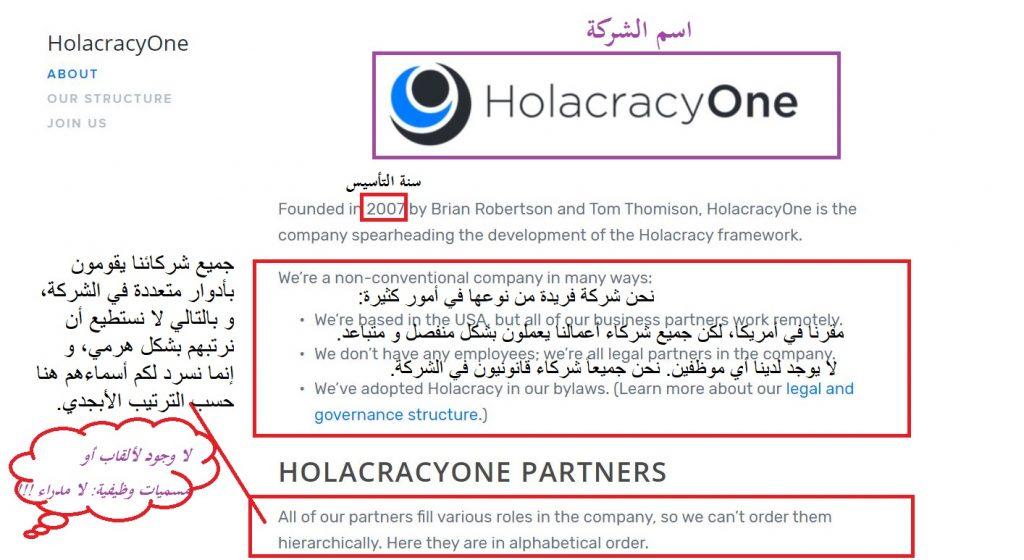 شركة هولاكراسي وان - نظام الإدارة الذاتية، أسلوب الهولاكرسي