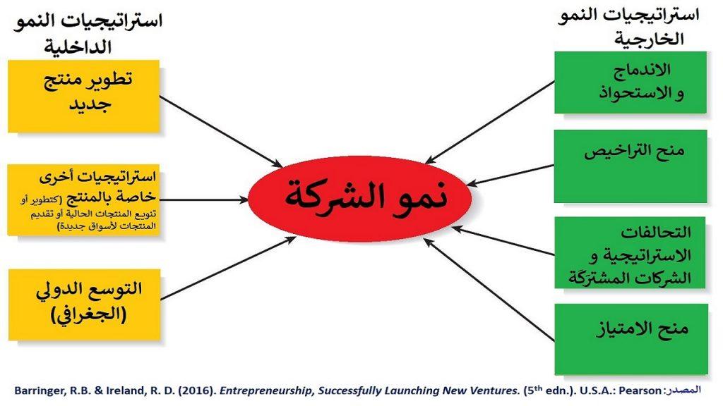توسُّع و نمو الشركات يتم عبر النمو الداخلي (الاعتماد على موارد الشركة) أو الخارجي (الاستعانة و الشراكة مع شركات أخرى)