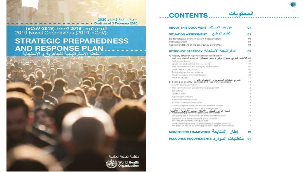 الخطة الدولية للجاهزية و الاستجابة لكورونا هي أحد نتائج الهيكل التنظيمي المتميز لمنظمة الصحة العالمية