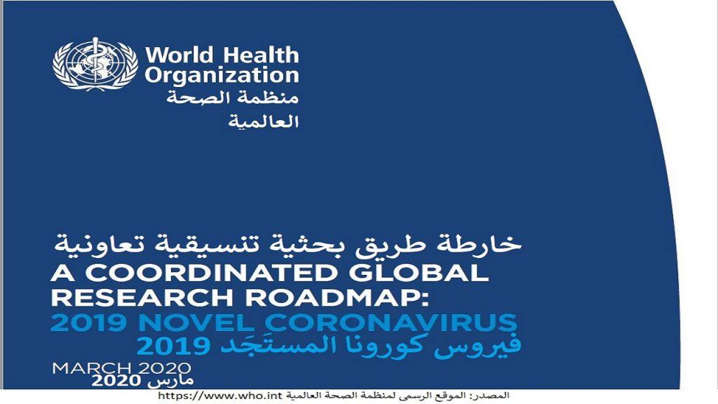 خارطة الطريق البحثية لكوفيد-19 تم إنتاجها في مارس 2020 لتوحيد الجهود البحثية و الطبية عالمياً في مواجهته