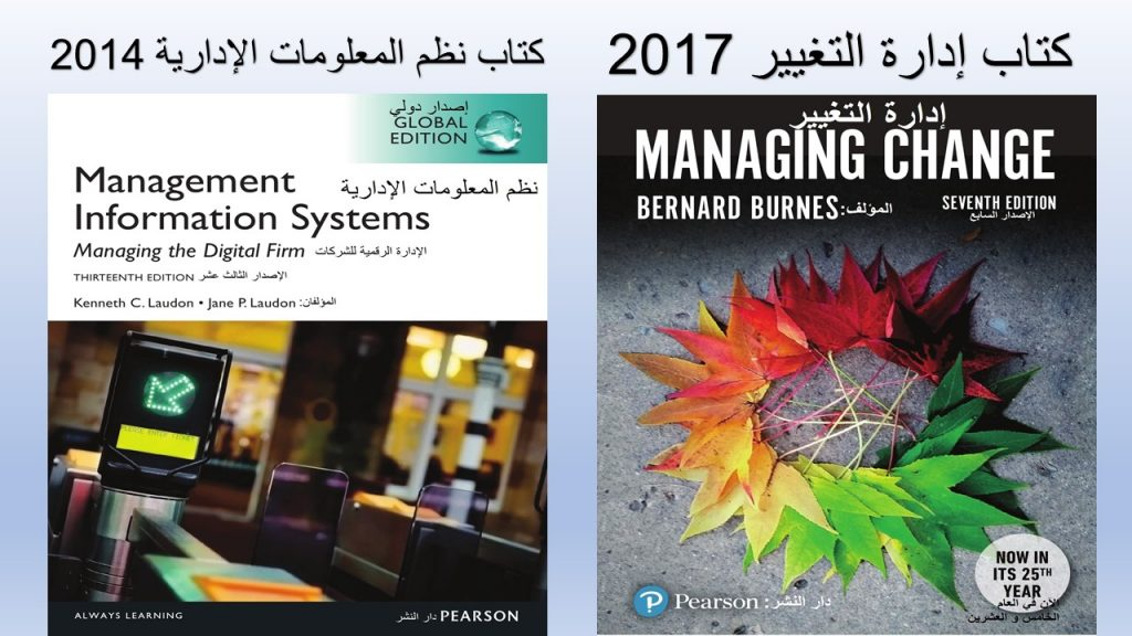 تفاصيل الفصول الثلاث الأولى من الجزء الثالث التغيير التنظيمي نتناولها في كتب القناة المستقبلية، خاصة كتاب التغيير التنظيمي 2017 و كتاب نظم المعلومات الإدارية 2014