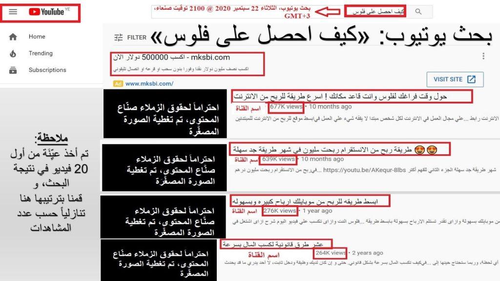 المحتوى العربي يتهاون في مسألة الحصول على الفلوس، و يصورها بأنها مسألة بسيطة جداً و سريعة