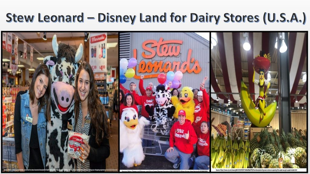Stew Stewards, owner of diary supermarkets in the U.S. provides (Disney Land for Diary Stores) by engaging and delighting customers.