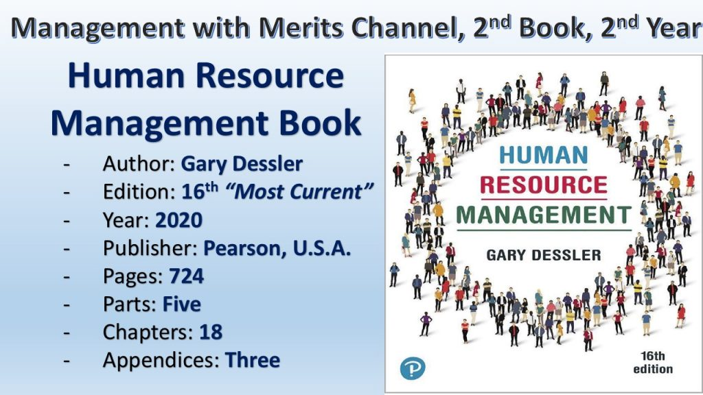Human Resource Management Book is the 2nd Book (2nd Year) in Management with Merits (MANWIM) Channel.