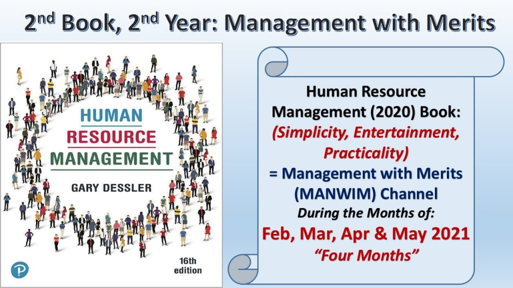 Human Resource Management Book will be discussed in the months of Feb, Mar, Apr and May 2021.