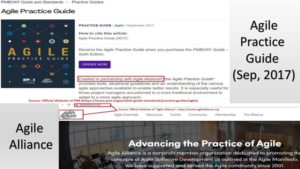 Agile Practice Guide (Sep 2017) is the most recent addition to PMBOK® Guide by PMI, in collaboration with Agile Alliance.