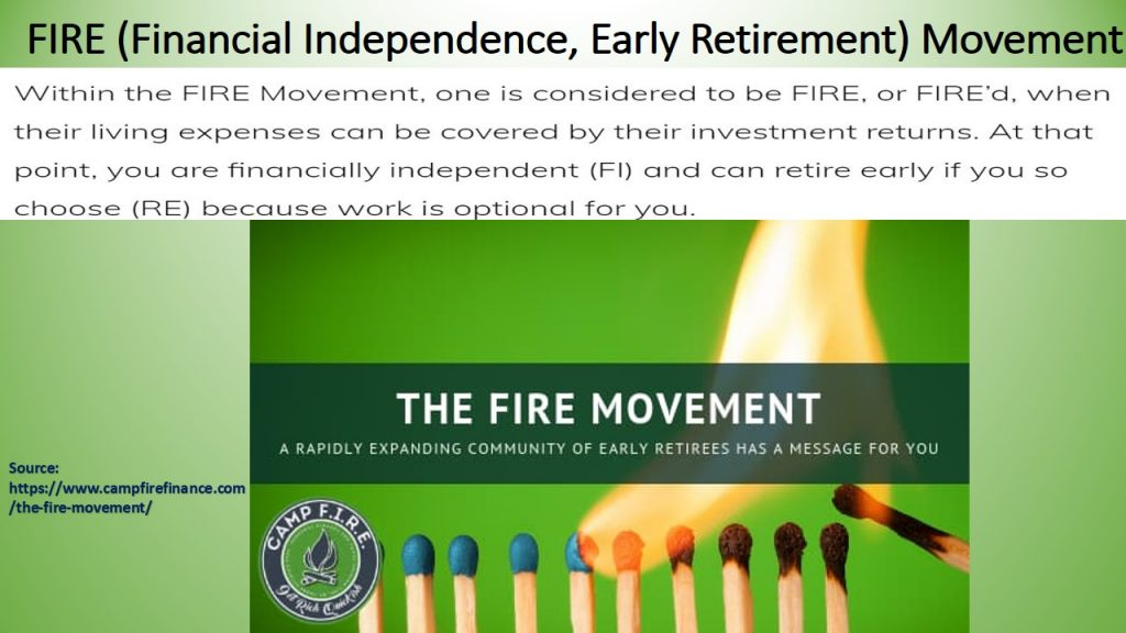 FIRE (Financial Independent, Early Retirement) Movement