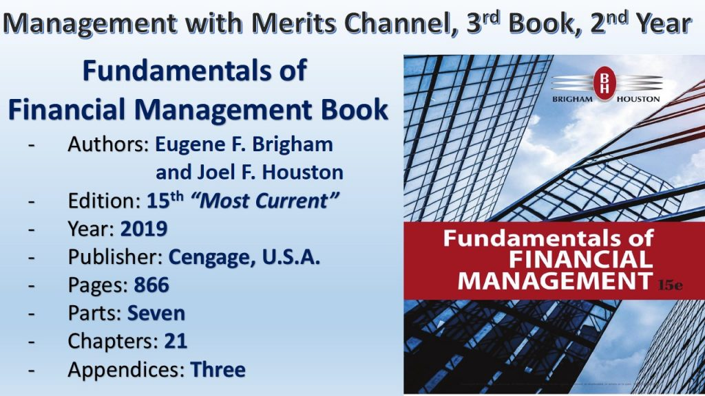 Fundamentals of Financial Management Book (2019), 15th Edition, by Brigham & Houston, Cengage, U.S.A.