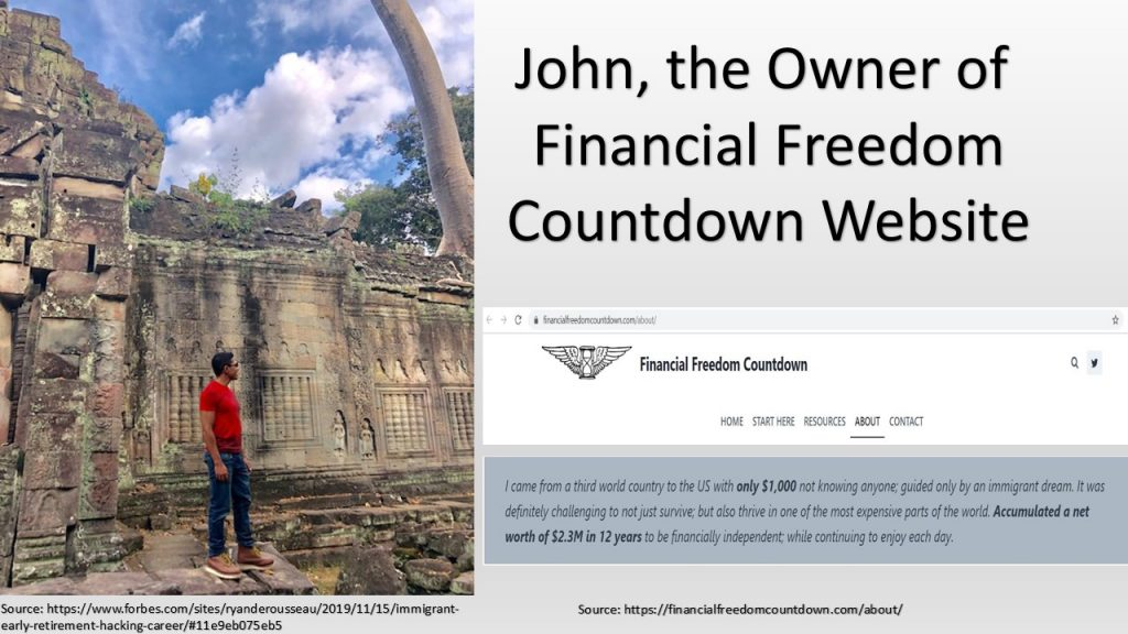 Financial management was the key of John's success, who turned $1K to $2.3M in only 12 years in the U.S.