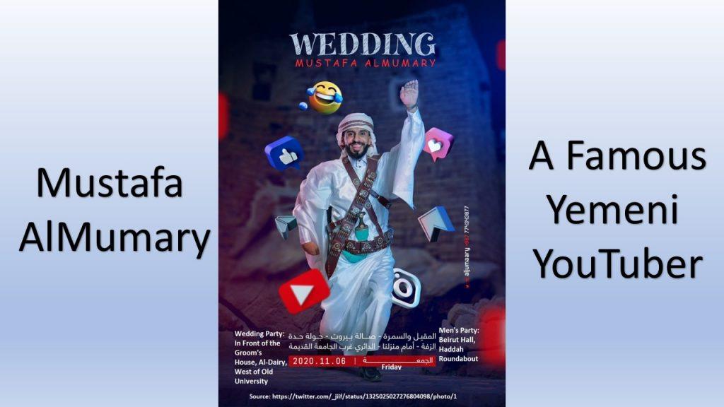 Mustafa Al-Mumari is a famous Yemeni comedy and entertainment YouTuber.
