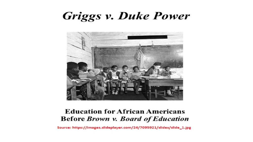 Griggs was required to have high school education to get a job in Duke Co. (Griggs VS. Duke Co., 1971, U.S.A.).
