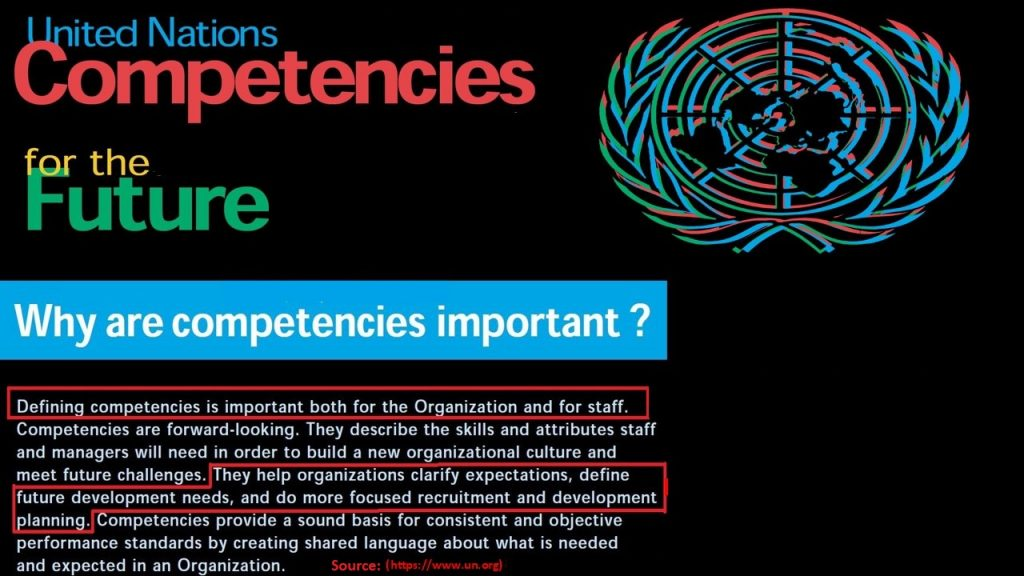 Competencies are the basis of human resource and talent management process in the United Nations