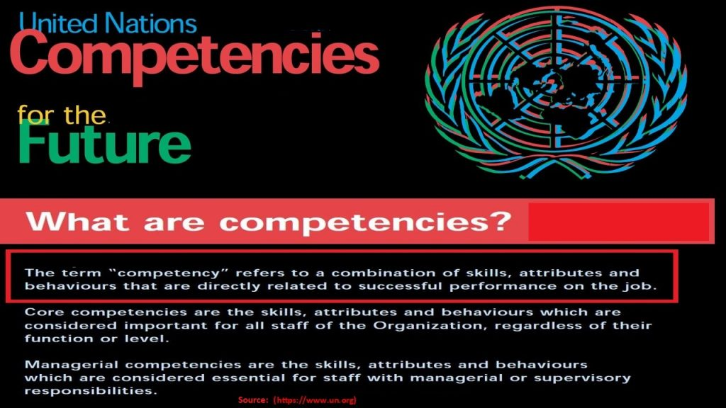 Competencies are the skills, attributes, and behaviors necessary for successful performance of jobs.