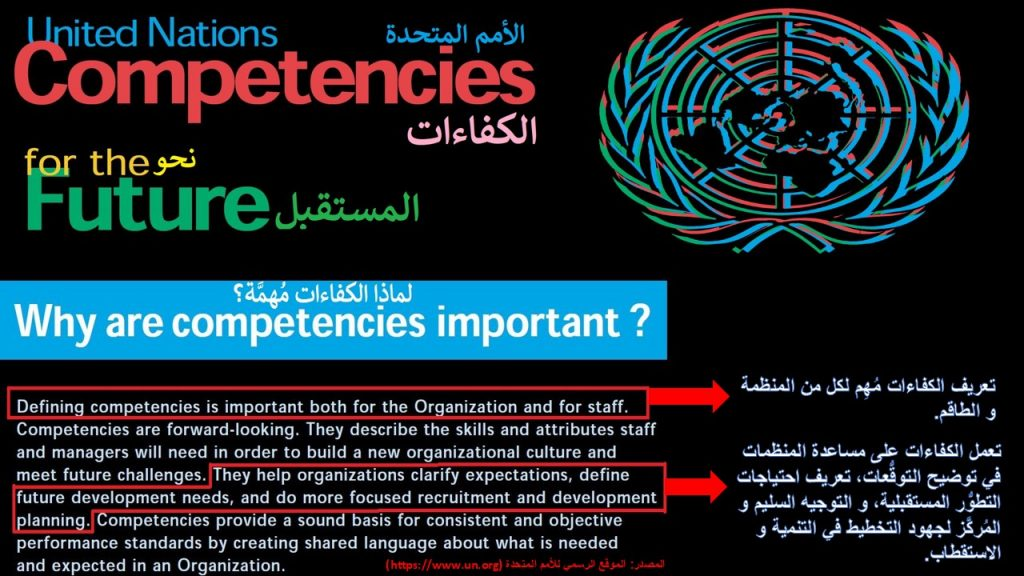 نظام الكفاءات في الأمم المتحدة يستند عليه نظام إدارة المواهب و الاستقطاب في المنظمة