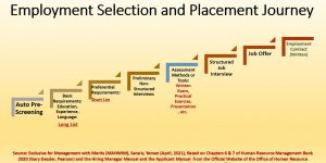 Employment & Selection journey passes through several interesting stages
