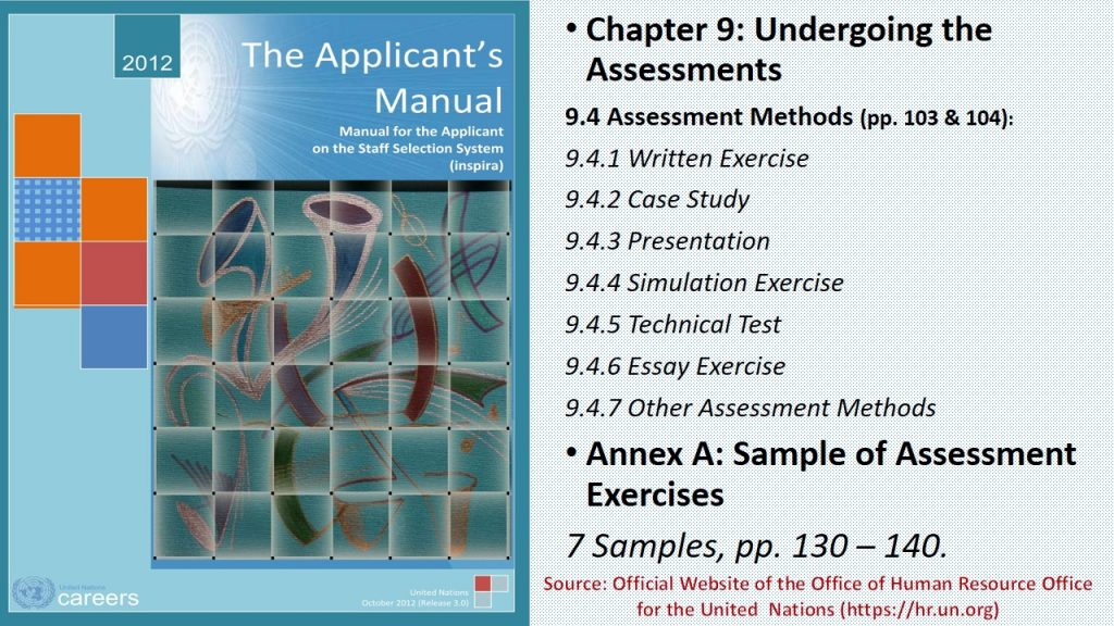 Some examples of assessment tools used for employment and selection, which include written tests, presentations, and so forth.