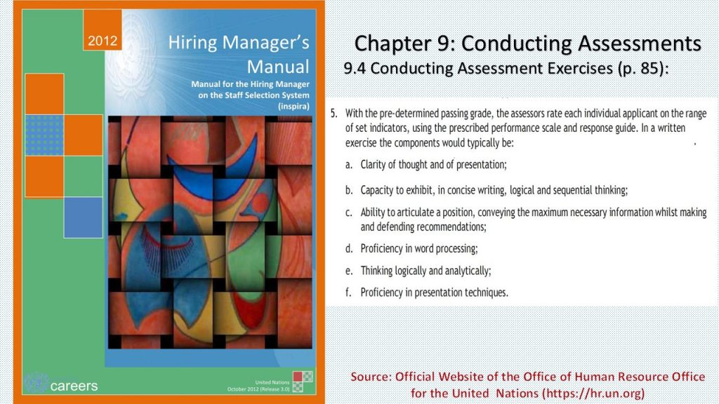Criteria for evaluating written tests in the employment & selection journey